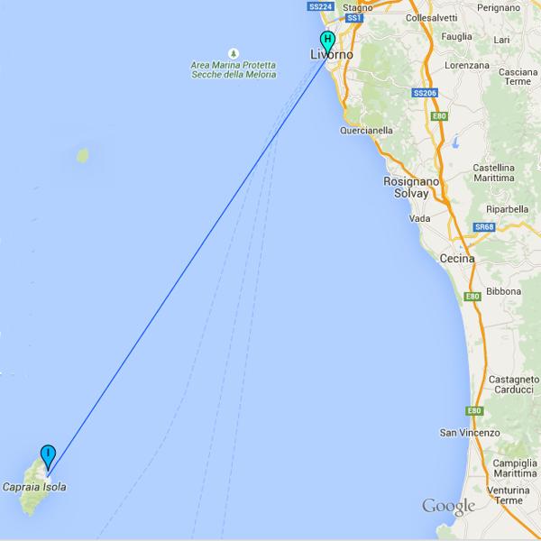 Toremar ferries to Elba Giglio and Capraia Island